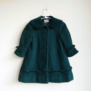 ROTHSCHILD | Hunter Green Wool Peacoat | 3T